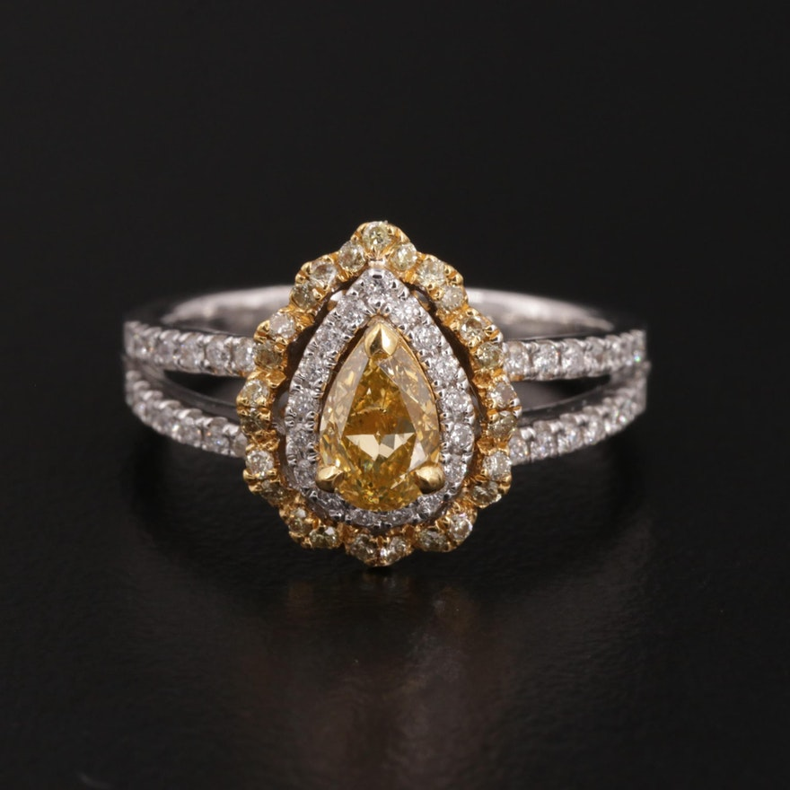 18K and 22K Gold Diamond Ring