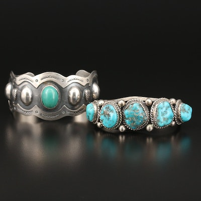 Southwestern Turquoise Cuff Bracelets Featuring Mexican