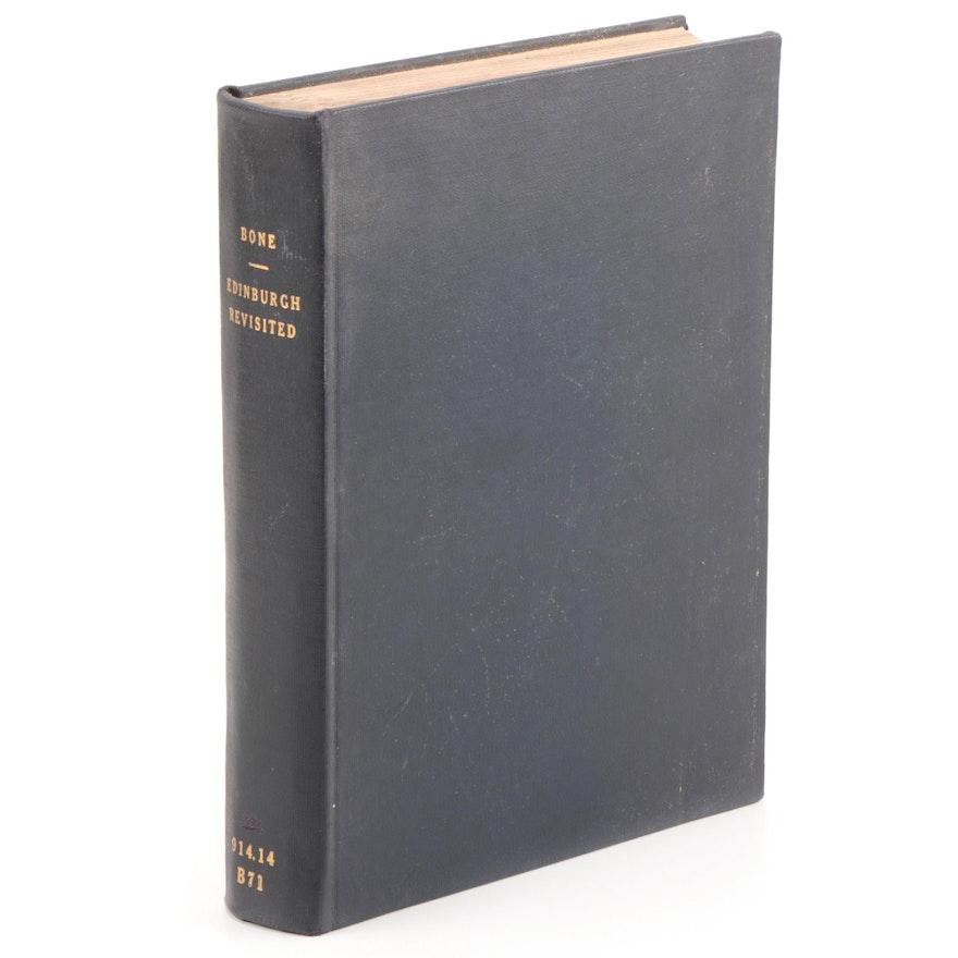 "1911 ""Edinburgh Revisited"" by James Bone with Illustrations by Hanslip  Fletcher"