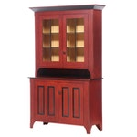 """David T. Smith & Co. Parcel-Ebonized and Red-Stained Maple """"Dutch"""" Cupboard"""