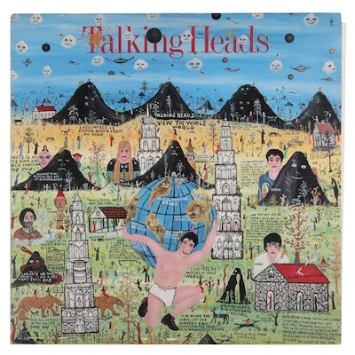 "Howard Finster Designed Talking Heads Record Album ""Little Creatures"", 1985"