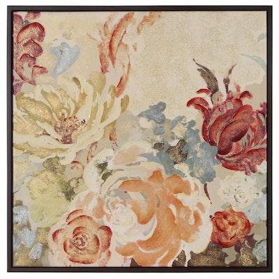 Embellished Floral Giclée after Agnes Saint Leger