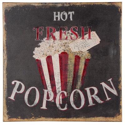 "Embellished Giclee Print ""Hot Fresh Popcorn"""