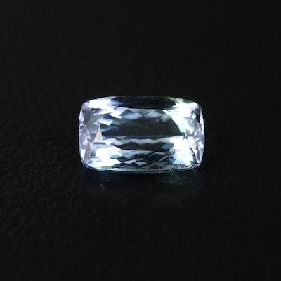 Loose 1.41 CT Rectangular Tanzanite Gemstone