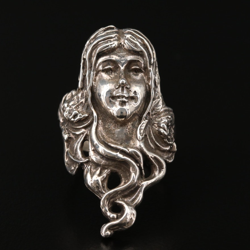Art Nouveau Style Sterling Ring