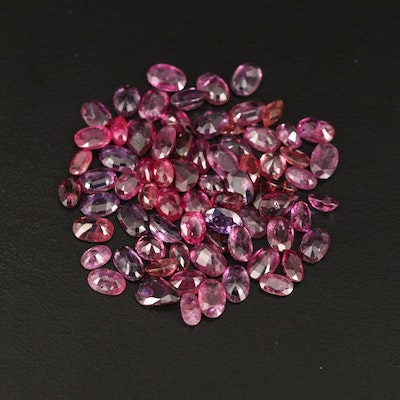 Loose 35.21 CTW Gemstone Selection Lot Features Garnet, Ruby and Tourmaline