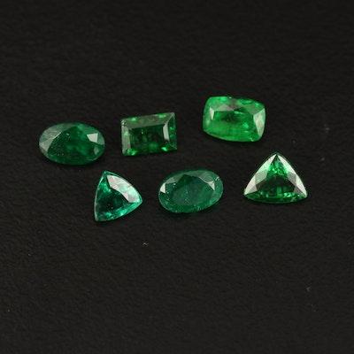 Loose 2.78 CTW Garnet and Emerald Gemstone Selection