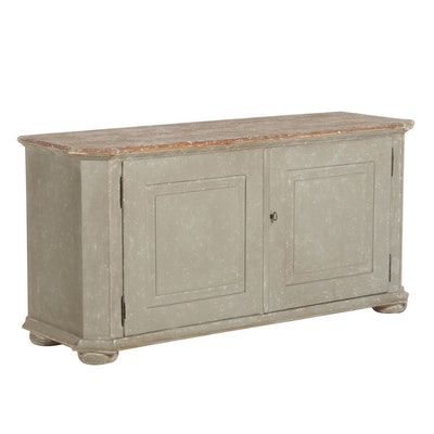 Contemporary Painted Wood Farmhouse Style Buffet