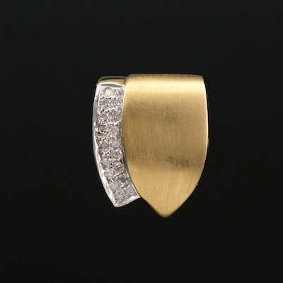 14K Gold Diamond Enhancer Slide Pendant
