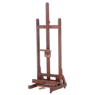 Sennelier of Paris Oak Adjustable Artist's Easel, Late 19th/Early 20th Century