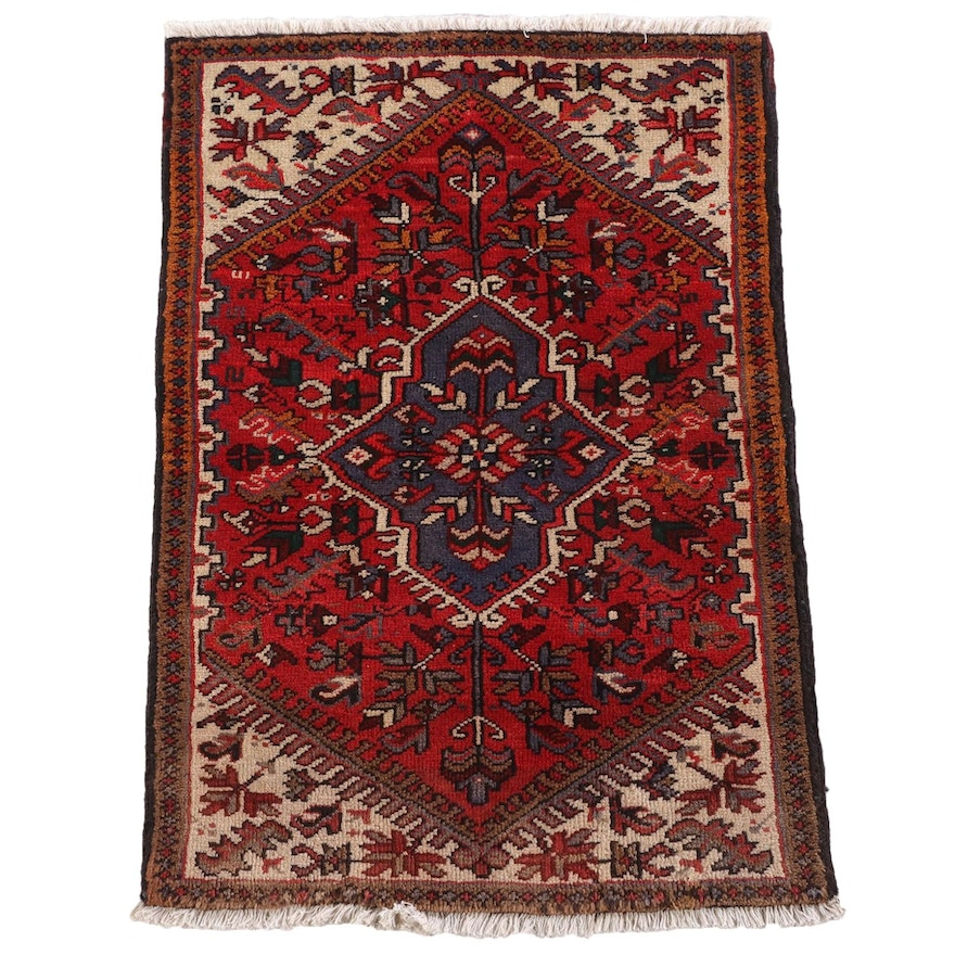 2'11 x 4'1 Hand-Knotted Persian Zenjan Wool Rug