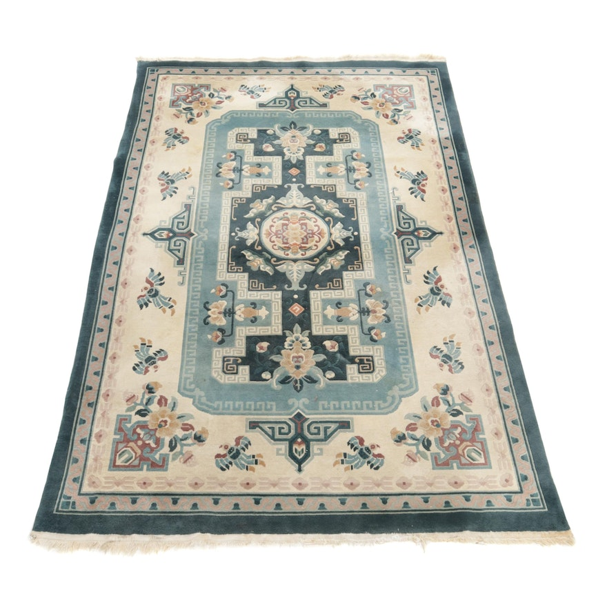 6' x 9'5 Hand-Knotted Chinese Sculpted Rug