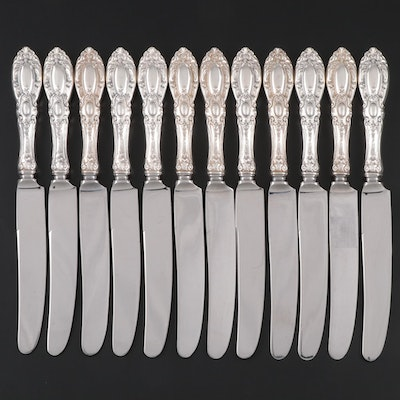 "Towle ""King Richard"" Sterling Handled Dinner Knives, Mid to Late 20th Century"