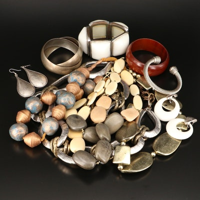 Assorted Bracelets, Necklaces and Earrings with Wood and Vegetable Ivory