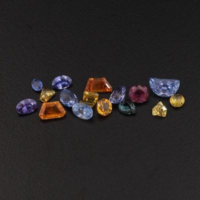 Loose 12.76 CTW Fancy Sapphire Gemstone Selection