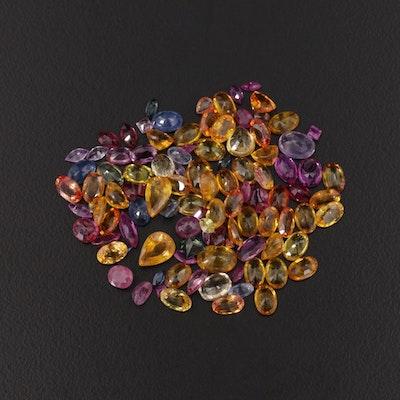 Loose 50.27 CTW Fancy Sapphire Gemstone Selection
