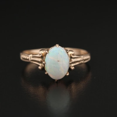 Late Victorian 10K Yellow Gold Opal Ring