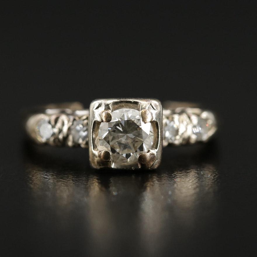 14K Yellow Gold Diamond Scrap Ring