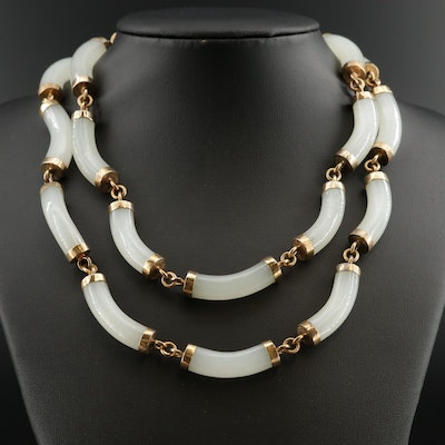 Vintage White Nephrite Necklace