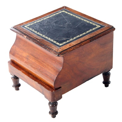 Victorian Mahogany Lift-Top Bedside Commode, Mid-19th Century