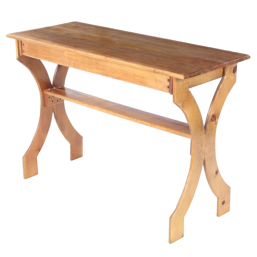 Pine Console Table, Late 20th Century