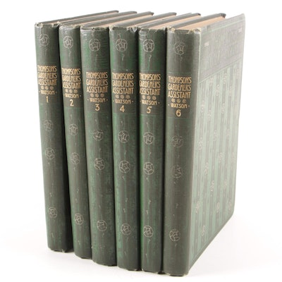 "1910 Illustrated ""The Gardener's Assistant"", Six Volume New Edition Set"