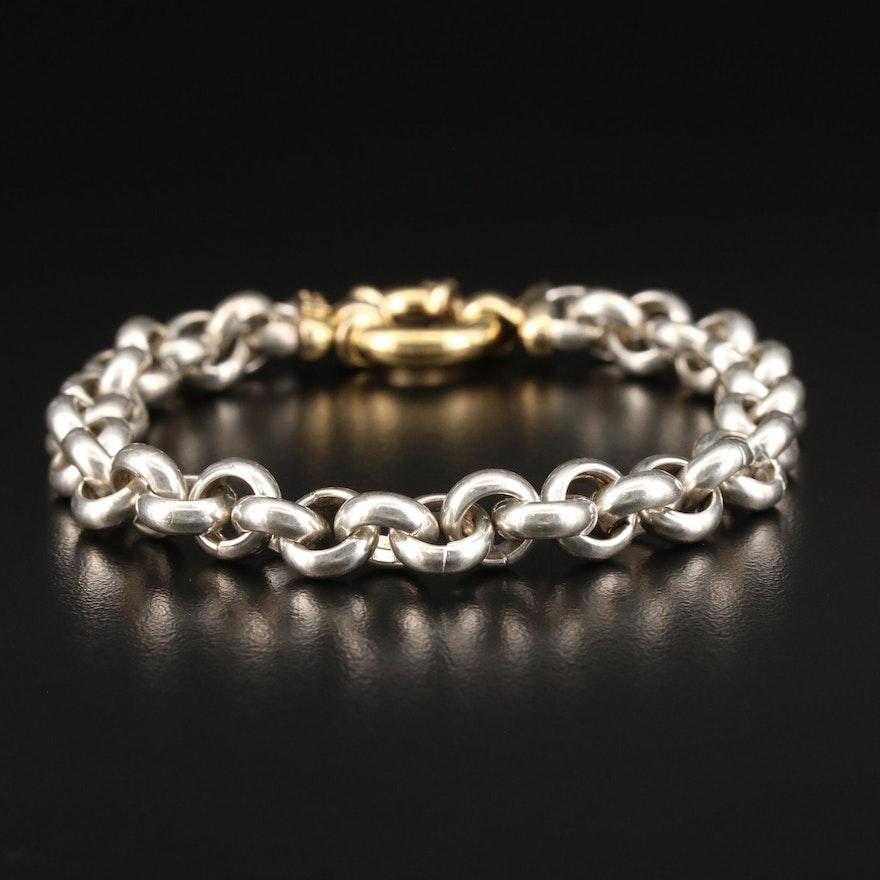 Milor Sterling Silver Cable Link Bracelet