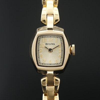 "Bulova ""Classic"" Gold Tone Quartz Wristwatch"