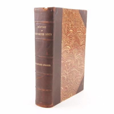 "1900 Leather Bound ""History of the Westchester County, New York"""