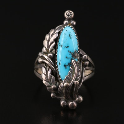 L. Lee Navajo Diné Sterling Silver Turquoise Ring
