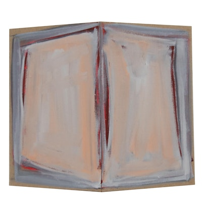 Tom Levine Abstract Oil Painting