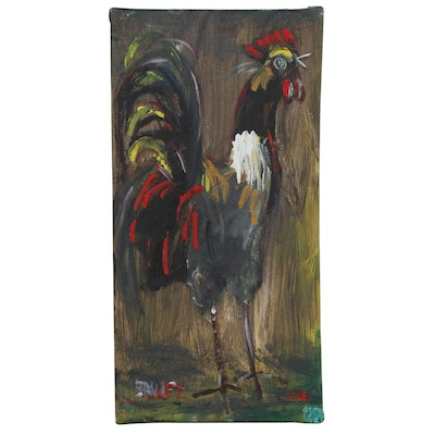 Acrylic Painting of Rooster