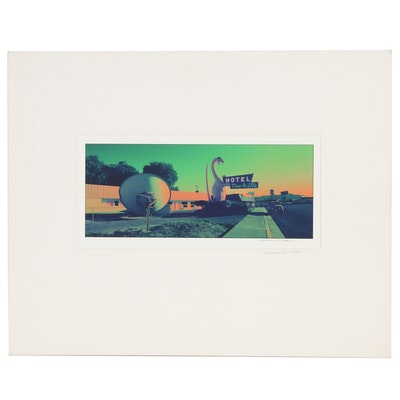 "William D. Wade Digital Print Photograph ""Motel Dine-A-Ville, Vernal, Utah,"""