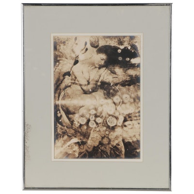 "Barbara Hershey Toned Silver Print ""Silent Dreams"", 1992"