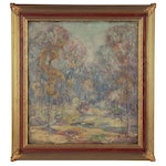 Impressionist Style Landscape Oil Painting, Late 19th to Early 20th Century