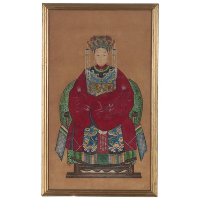 Chinese Ancestor Portrait, Late Qing Dynasty