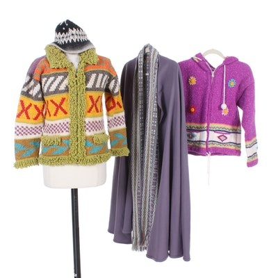 Handwoven English and Handmade South American Style Wool Outerwear