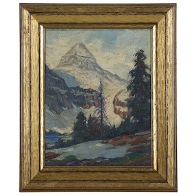 "Matthew Daly Mountain Landscape Oil Painting ""Mt. Assiniboine"""