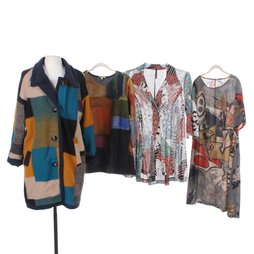Trisha Tyler and Other Jackets and Separates with Smith & Hawken Shawl