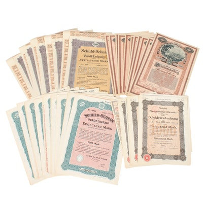 German Bonds with Coupons, 1914-1921