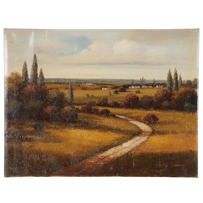 Ben Harris Oil Painting of European Landscape
