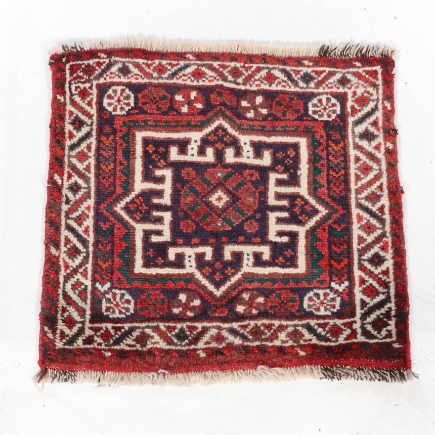 2'1 x 2'1 Hand-Knotted Persian Qashqai Shiraz Rug, 1970s