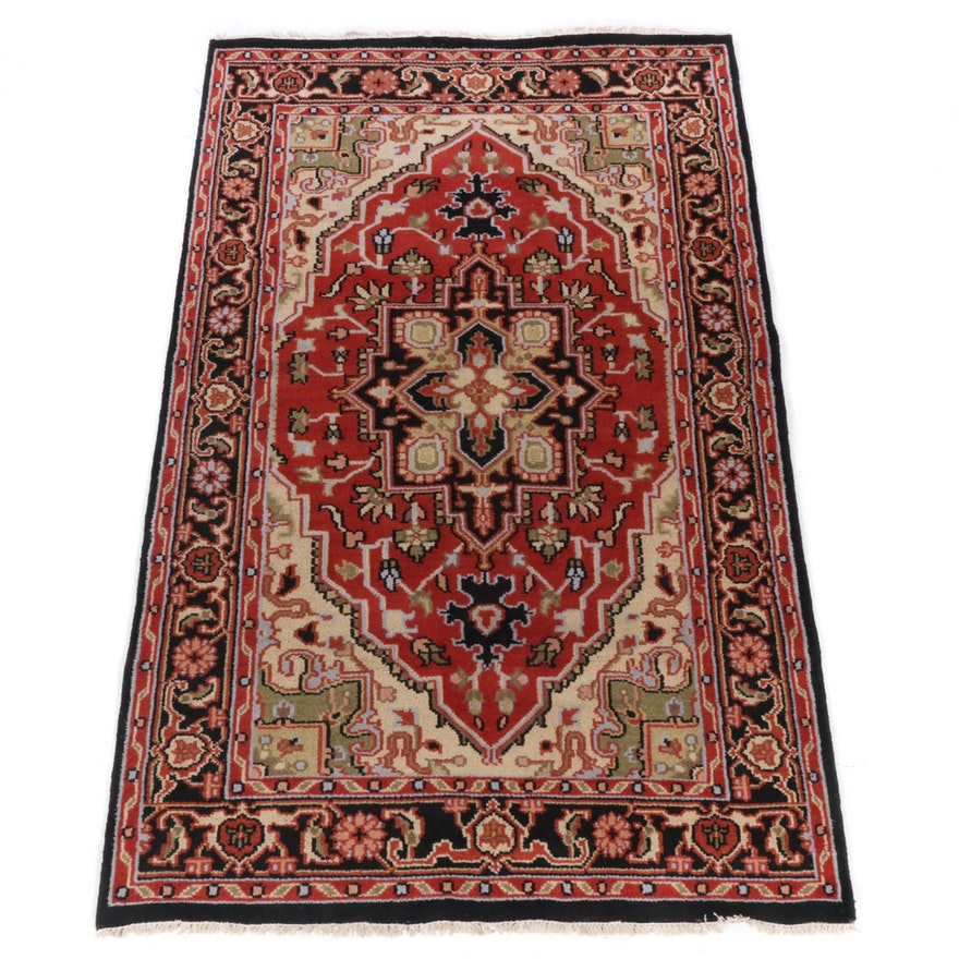 5'1 x 8'4 Hand-Knotted Indo-Persian Heriz Rug, 2010s