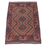 2'9 x 3'10 Hand-Knotted Afghani Turkoman Rug, 1960s