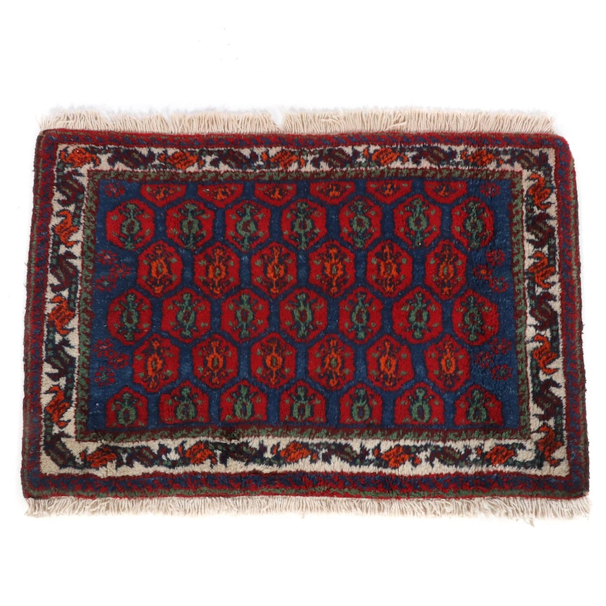 2'2 x 2'11 Hand-Knotted Persian Afshar Rug, 1960s