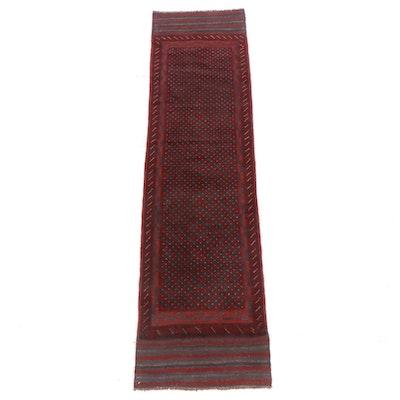2'2 x 8'6 Handmade Afghani Turkoman Runner Rug, 2000s