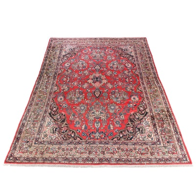 10'6 x 14'11 Hand-Knotted Persian Sultanabad Room Sized Rug, 1930s