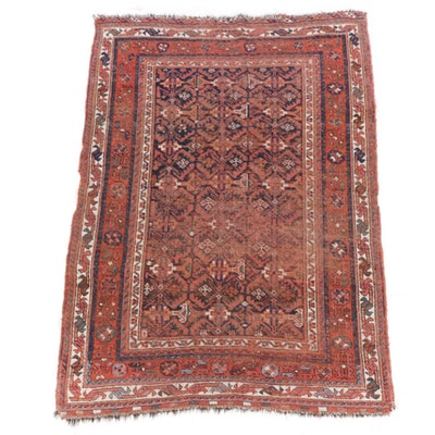 4'6 x 6'5 Hand-Knotted Persian Afshar Rug, 1920s