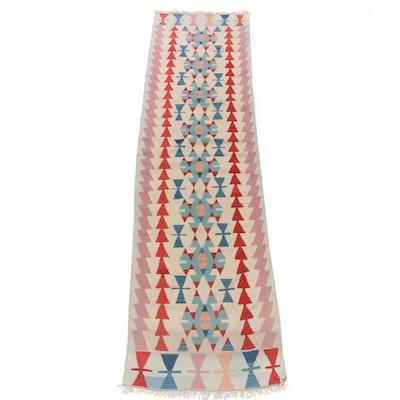 3'0 x 11'6 Handwoven Turkish Caucasian Kilim Runner Rug, 1940s