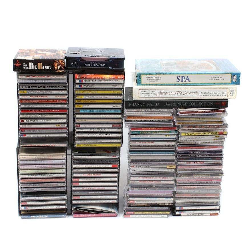 Johnny Cash, Frank Sinatra, Ella Fitzgerald, Neil Diamond, and Other CDs